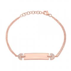 Rose Gold ID Bracelet