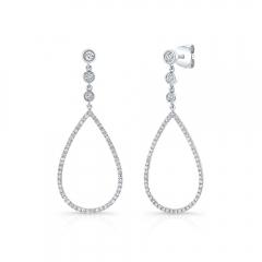 Pave Br Ladies Earrings
