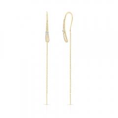 Yellow Gold Forevermark Diamond Ear Threaders
