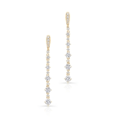 Yellow Gold Forevermark Small Diamond Prong Drop Earrings