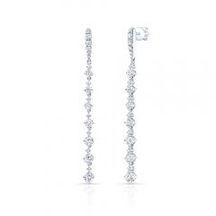 White Gold Forevermark Small Diamond Prong Drop Earrings