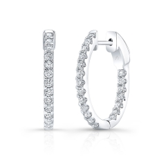 White Gold 3/4 Inch Oval Hoops