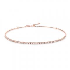 Rose Gold Tennis Choker Necklace
