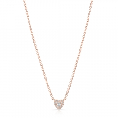 Rose Gold Petite Heart Necklace