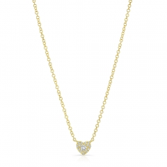 Yellow Gold Petite Heart Necklace