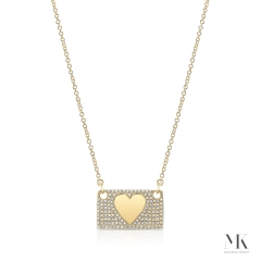 Yellow Gold Love Letter Necklace