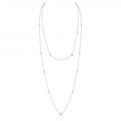 White Gold Forevermark Convertible Diamonds By The Yard Necklace