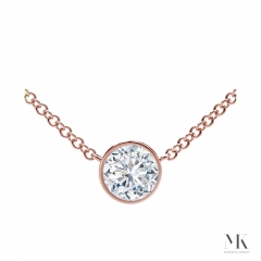 Forevermark Tribute Rose Gold Round Diamond Necklace