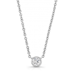 Forevermark Tribute White Gold Round Diamond Necklace