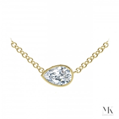Forevermark Tribute Yellow Gold Pear Diamond Necklace