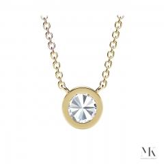 Forevermark Tribute Yellow Gold Milgrain Bezel Necklace