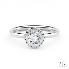 Forevermark Tribute White Gold Beaded Diamond Ring