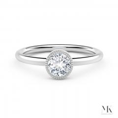 Forevermark Tribute White Gold Milgrain Bezel Ring