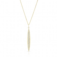 Yellow Gold Pave Large Surf Board Pendant