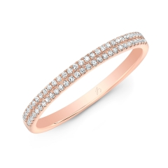 Rose Gold Two Row Pave Band